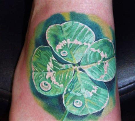 4 leaf clover tattoos for men 60 four leaf clover designs for luck ink