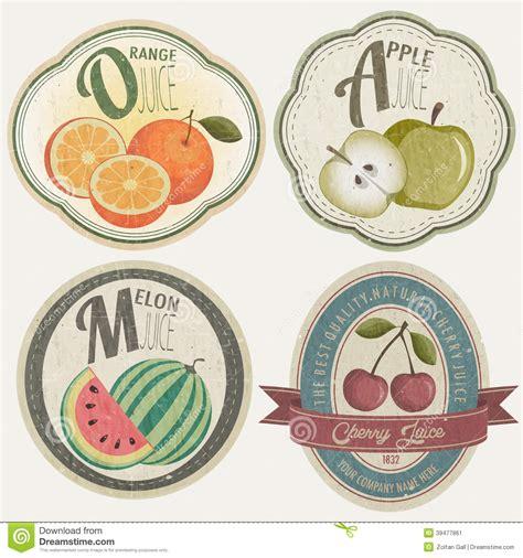 retro vintage style icon collection stock illustration vintage label collection with fruit illustrations stock