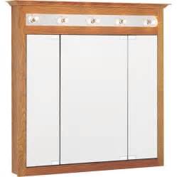 oak medicine cabinet with lights shop project source 37 5 in x 36 in oak lighted oak