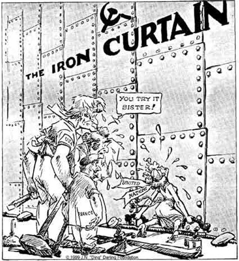 who created the iron curtain cold war cartoon on iron curtain social studies and