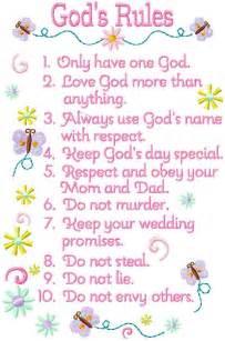 10 commandments for children project