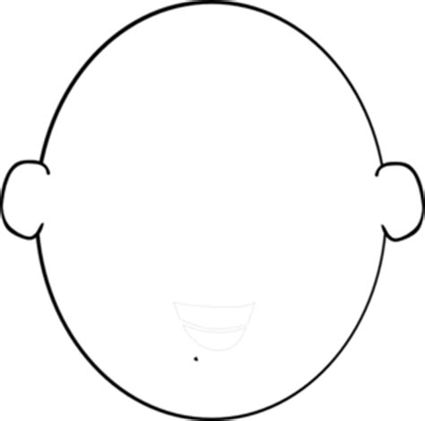 free headshot template outline template clipart best
