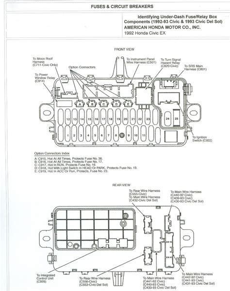 2004 honda civic fuse box fuse box and wiring diagram