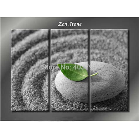3 panel modern feng shui quot zen quot painted painting wall picture