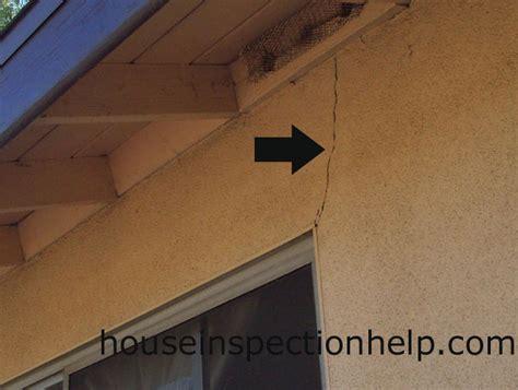 Crack In Stucco Off Window Corner