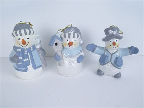 snowman ornaments ceramic snowman ornaments ebay