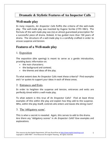 an inspector calls themes worksheet an inspector calls by j b priestley worksheets and