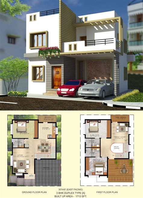 Home Design 3d 2bhk by Floor Plan Balaboomi City