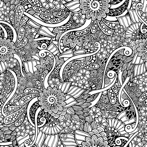 oriental pattern tumblr seamless asian floral doodle black and white pattern in
