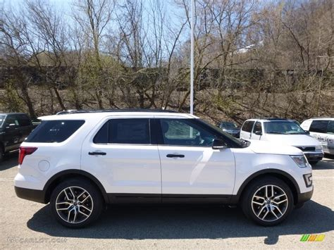 white ford explorer sport 2016 oxford white ford explorer sport 4wd 112284768 photo