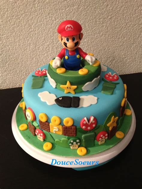 gateau mario bros babykids pinterest mario birthday cake mario cake  mario bros cake