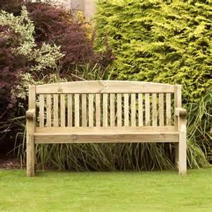 banc de jardin en bois 1m53 meuble et salon de jardin