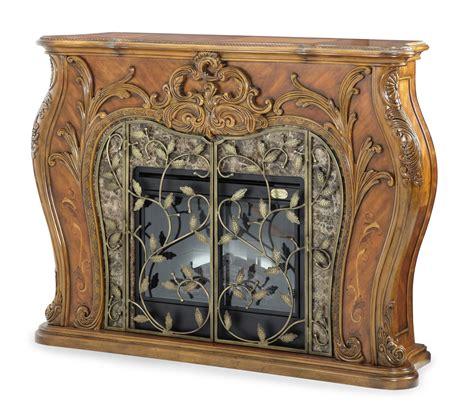 Michael Amini Fireplace michael amini palais royale rococo cognac traditional fireplace aico
