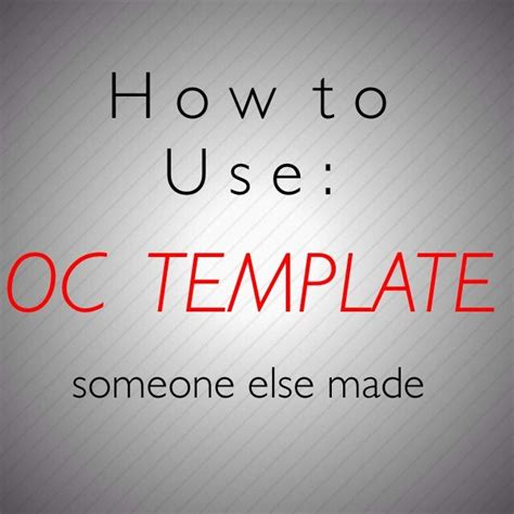 How To Using Oc Templates Literate Roleplay Amino Oc Template Amino