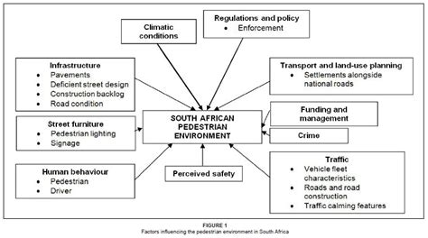 developing a south african pedestrian environment