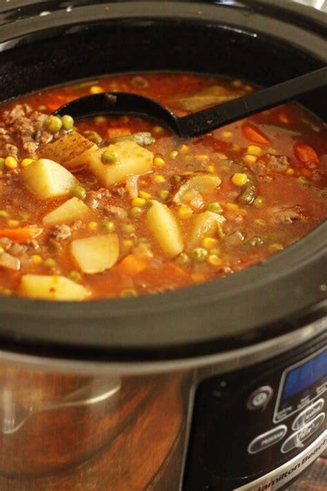 Vegetarian Pot Size L vegetable beef stew with v8