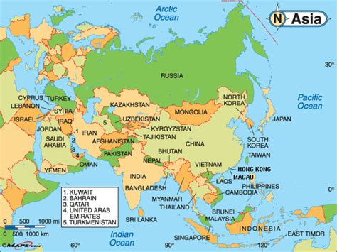 Political Map Of Asia by Political Maps Of Asia Galleryhip Com The Hippest