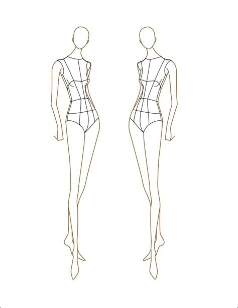 fashion sketch templates front and back more information