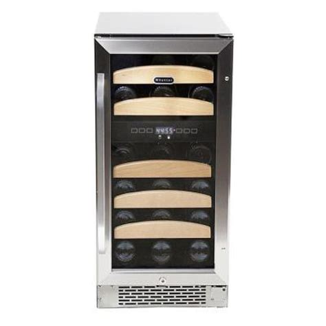 whynter 28 bottle dual temperature zone built in wine