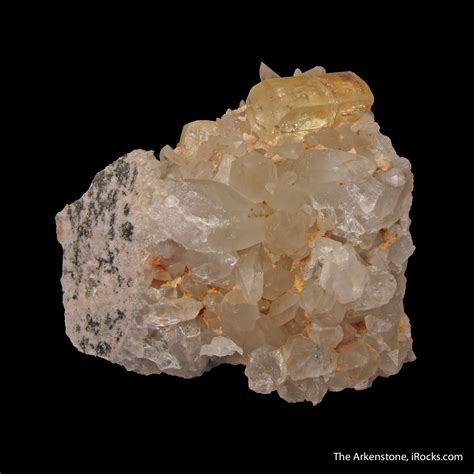 Yellow Quartz Yellow Topaz topaz on quartz ob16a 58 schneckenstein cliff