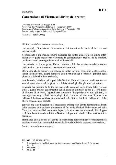 Dispense Diritto Internazionale by Diritto Dei Trattati Convenzione Di Vienna Dispense