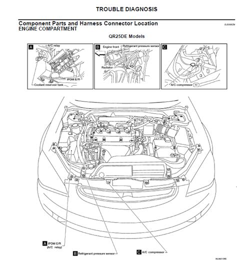 02 nissan altima 4 cyl engine relay for a c compressor located by the alternator has no