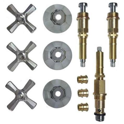 binford 3 valve rebuild kit for tub and shower with chrome