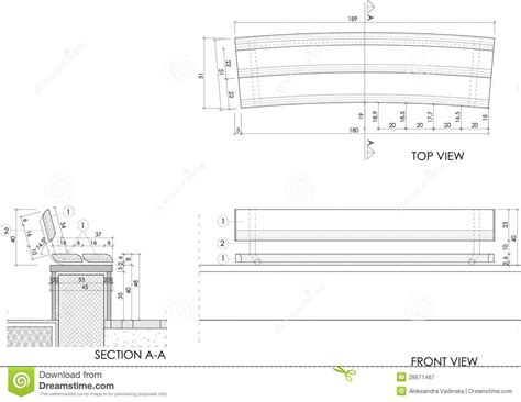 wooden bench drawing royalty  stock photography