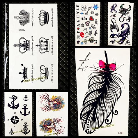 cosmetic tattoo queen chatswood reviews chic cute king queen crown tattoo sticker waterproof arm