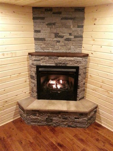 Corner Gas Log Fireplace by Best 25 Corner Fireplaces Ideas On