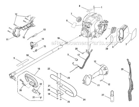 ryobi string trimmer parts diagram ryobi ry30522 parts list and diagram ereplacementparts