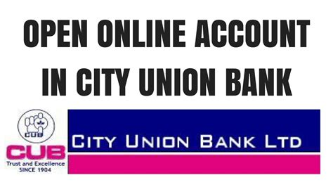 city union bank banking city union bank saving account opening how to