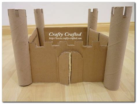 How To Make A Castle Out Of Cardboard And Paper - castle made out of cardboard make your own doll house