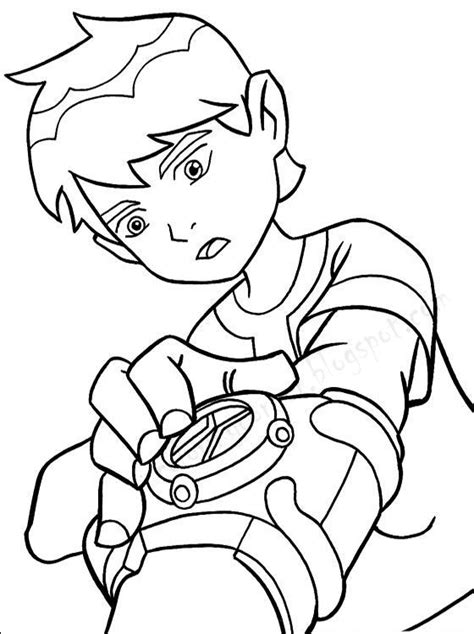 Kids Page Ben 10 Coloring Pages Ben Ten Coloring Pages