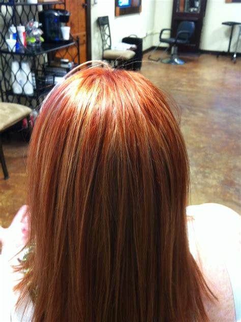 hairstyles of copper blonde hivhlights red copper hair with blonde highlights courtesy of t duke