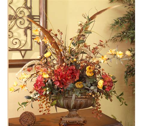 floral arrangements for home decor silk floral arrangement orchids and hydrangea ar239 99