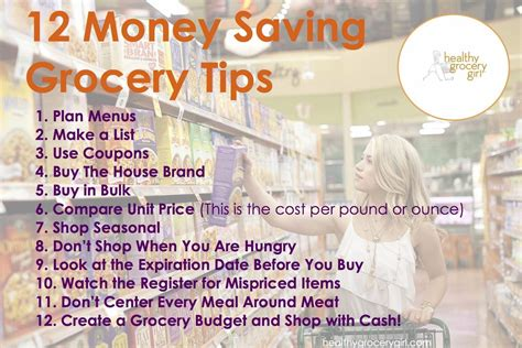 healthy grocery girl  money saving tips