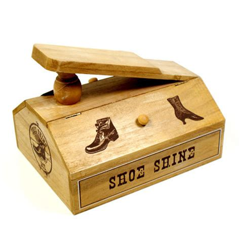 wooden shoe box storage shoe cleaning box wooden shoe stuff storage box shoeshine