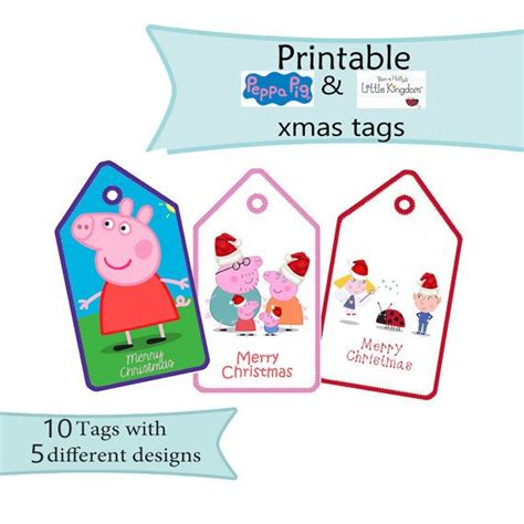 peppa pig ben and holly s little kingdom xmas gift tags