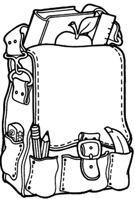 free coloring pages of backpack backpack