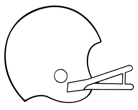 Football Helmet Outline Profile by Football Helmet Free Printable Coloring Pages