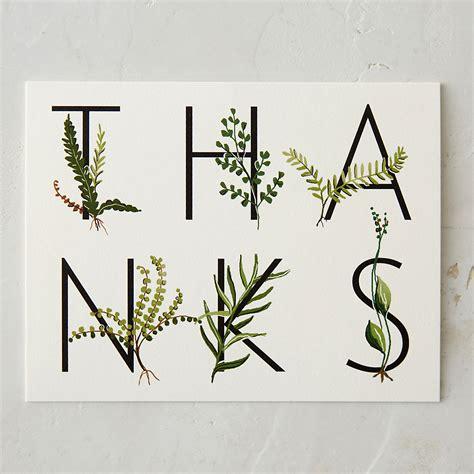 Terrain Gift Card - garden themed thank you card craftbnb