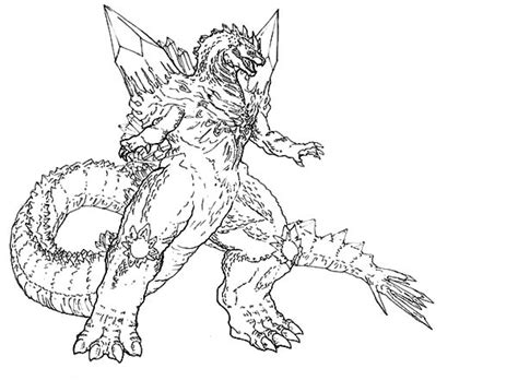 Godzilla Coloring Pages Free Large Images Sketch Coloring Page Godzilla Coloring Pages