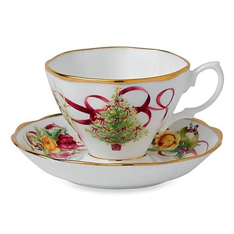 buy royal albert old country roses christmas tree teacup