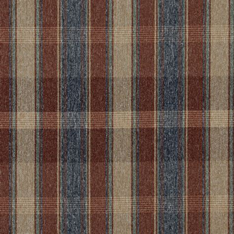 rustic upholstery fabric red blue green and beige large plaid country tweed