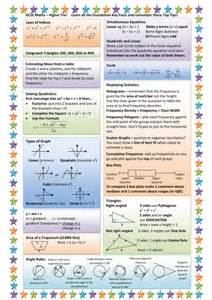 higher gcse maths key facts revision sheet by nottcl teaching