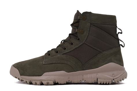 nike boots nike sfb field boot 6 quot leather cargo khaki city blue