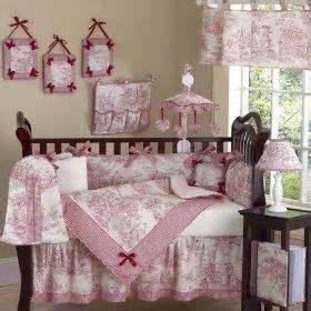 find pink amp red nursery bedding