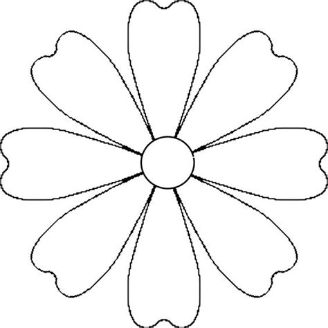 printable daisy stencils flower daisy 8 petal template by baj a flower that could