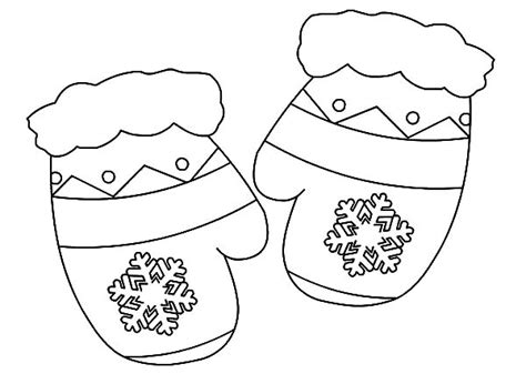 mitten coloring page gift mittens coloring pages color